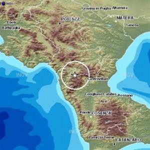 cal0 Ancora scossa di terremoto tra Cosenza e Potenza