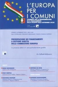 """europa_x_i_comuni_bisignano Conferenza su """"L'Europa per i Comuni"""""""