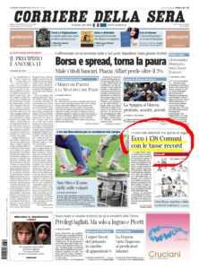 corriere_della_sera_30marzo2012_prima_pagina-222x300 Ai bisignanesi la tassa Irpef piu' cara d'Italia!