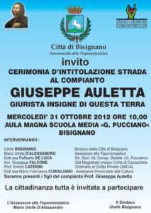 giuseppeauletta-213x300 Bisignano: Una strada all'insigne giurista Giuseppe Auletta