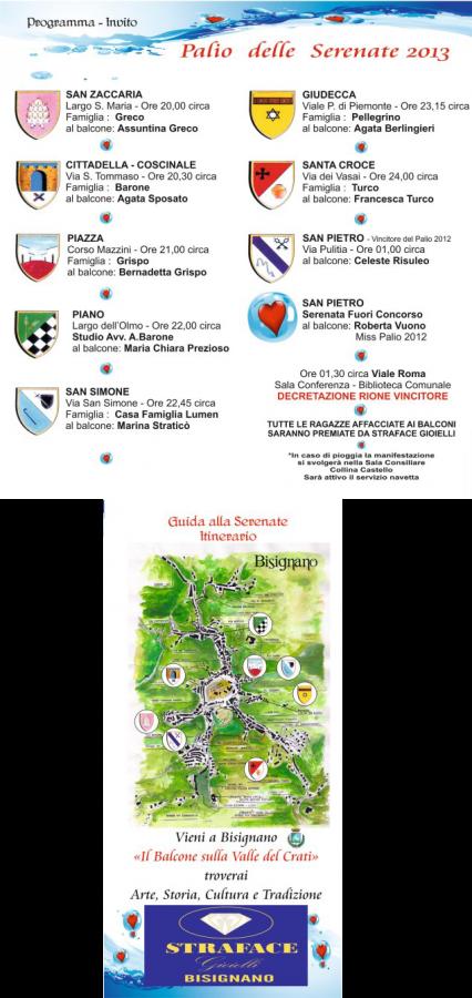 serenate2013 Palio delle Serenate 2013 - Programma