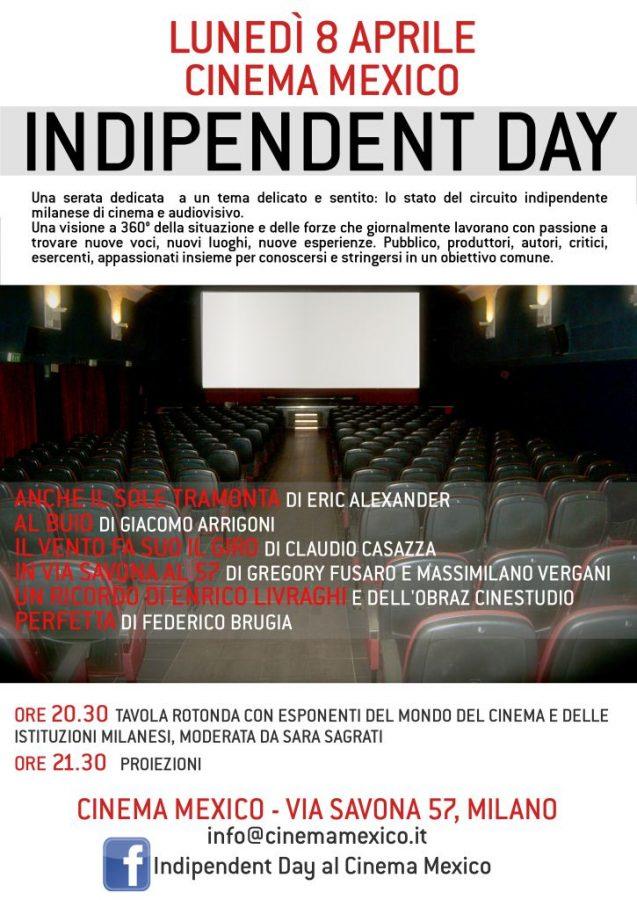 """indipendent-day-via-savona-57 Al Cinema Mexico di Milano """"in via Savona al 57"""" regia del bisignanese Gregory Fusaro"""