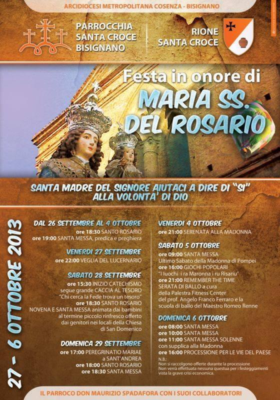 madonna-rosario-2013 Festeggiamenti in onore di Maria SS. del Rosario