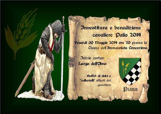piano-20014f Quartiere Piano: Investitura e benedizione cavaliere