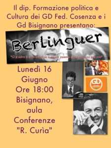 """pd_bisignano_berlinguer-225x300 Berlinguer: """"Ci si salva e si va avanti soltanto se si agisce insieme e non solo uno per uno"""""""