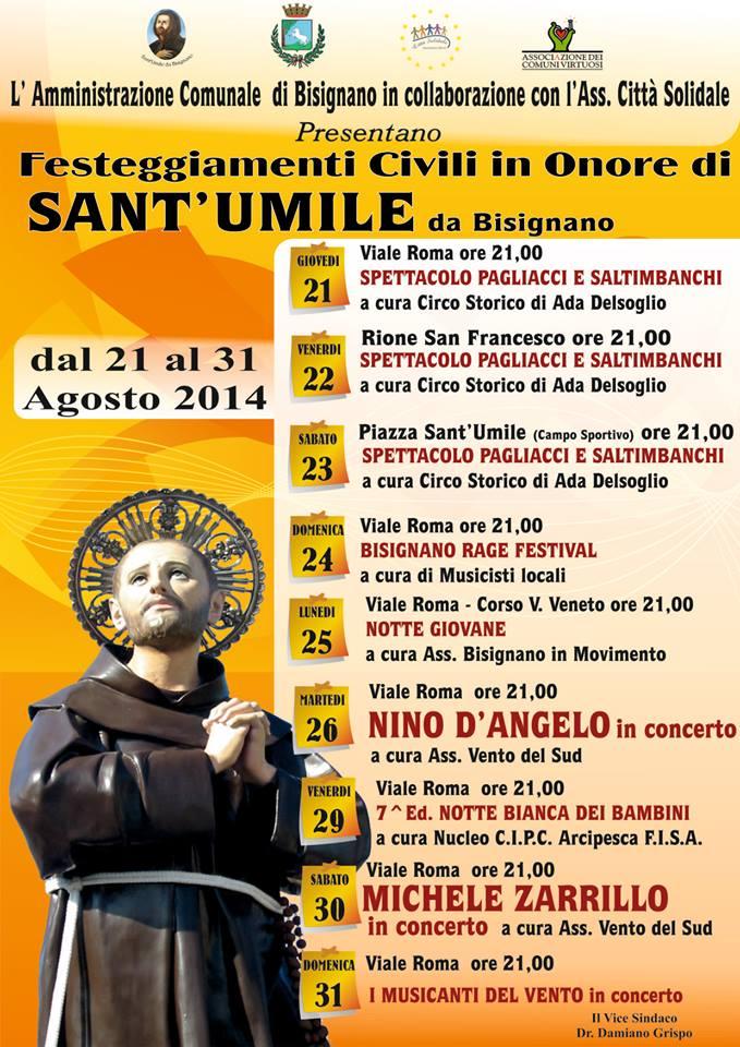santumile-2014 Festeggiamenti civili 2014 in onore di Sant'Umile da Bisignano