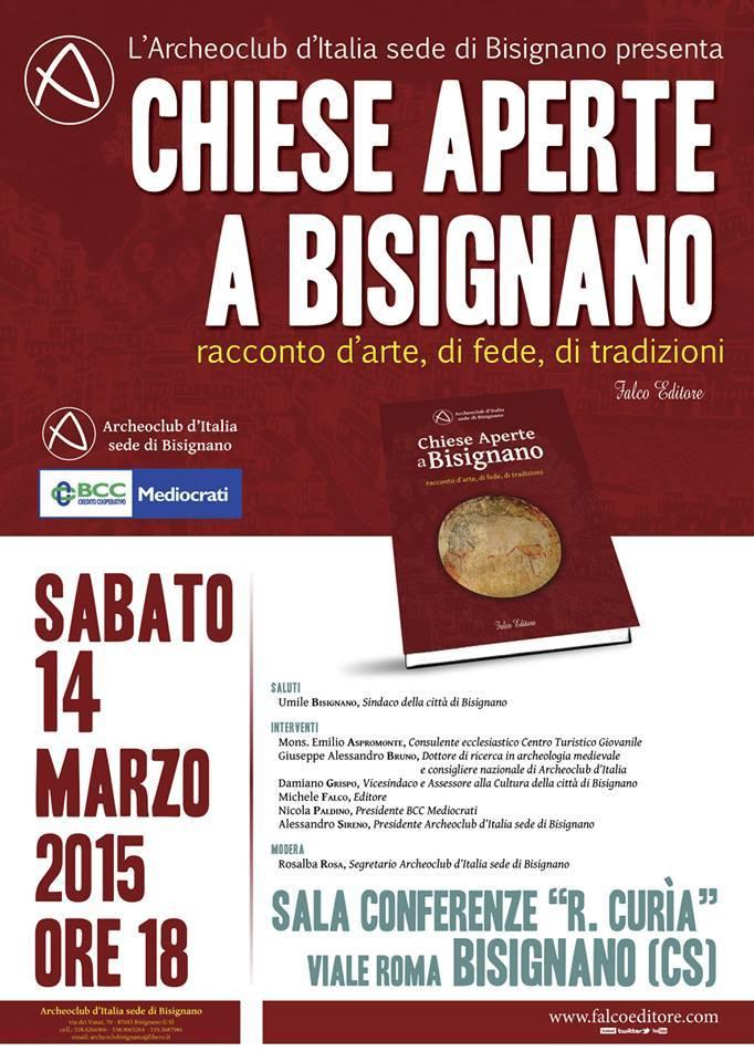Locandina presentazione libro Chiese Aperte a Bisignano