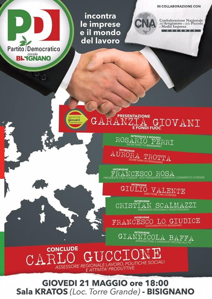 """Manifesto Presentazione GARANZIA GIOVANI e Fondi Fuoc - """"Incontrare le imprese e il mondo del lavoro"""""""
