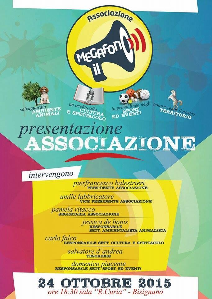 associazione-megafono Associazione Il Megafono, presentazione Sabato 24 Ottobre