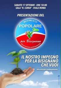popol-208x300 Movimento Popolare, l'iniziativa di sabato 17 ottobre