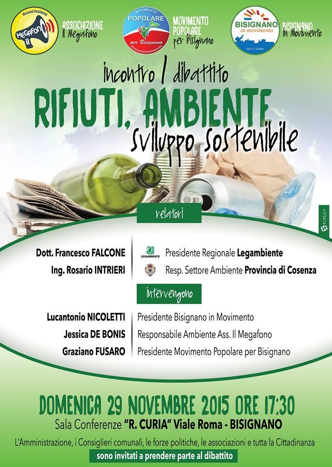 rifiuti-ambiente-dibat Incontro e dibattito pubblico in tema di rifiuti e ambiente a Bisignano