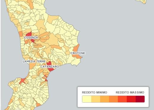 calabria-ricchezza-reddito I comuni più ricchi della Calabria: Rende al primo posto, Bisignano infondo