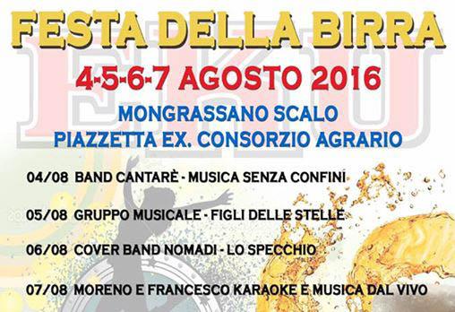 festa-birra-mongrassano-scalo Festa della birra a Mongrassano Scalo fino al 7 Agosto