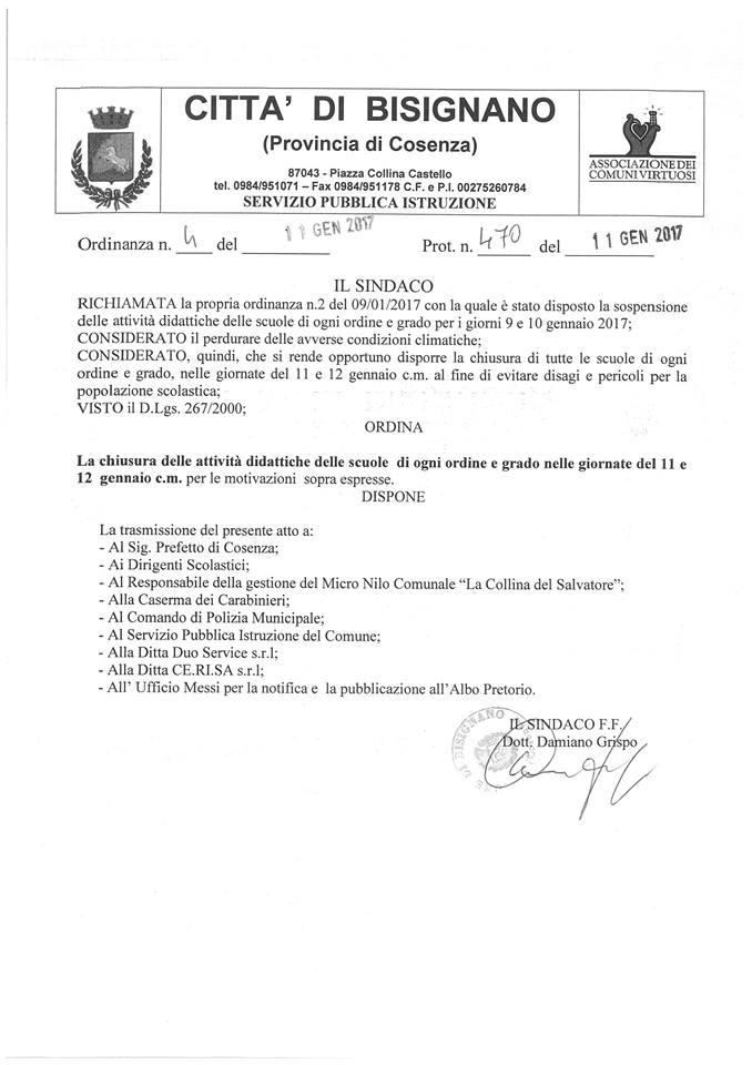 ordinanza-scuola.chiusa Ordinanza chiusura scuole 12 Gennaio 2017