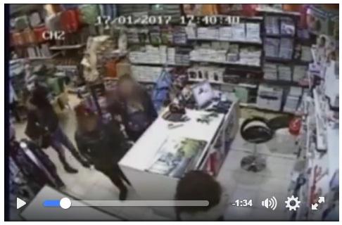 video-furto-bisignano Bisignano, ladri in azione in un negozio. Ripresi dalle telecamere