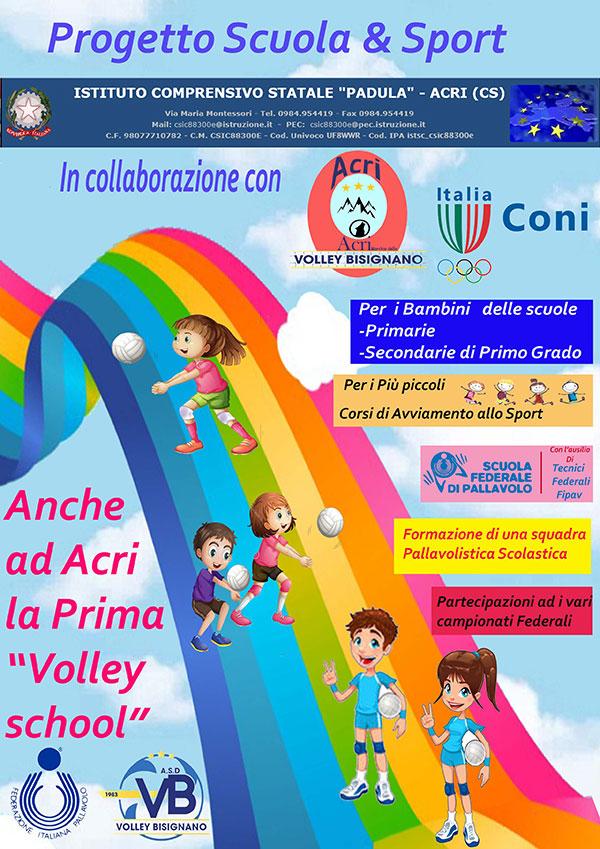 """scuola-e-sport Volley Bisignano e IC Padula di Acri danno il via alla prima """"Volley School"""""""