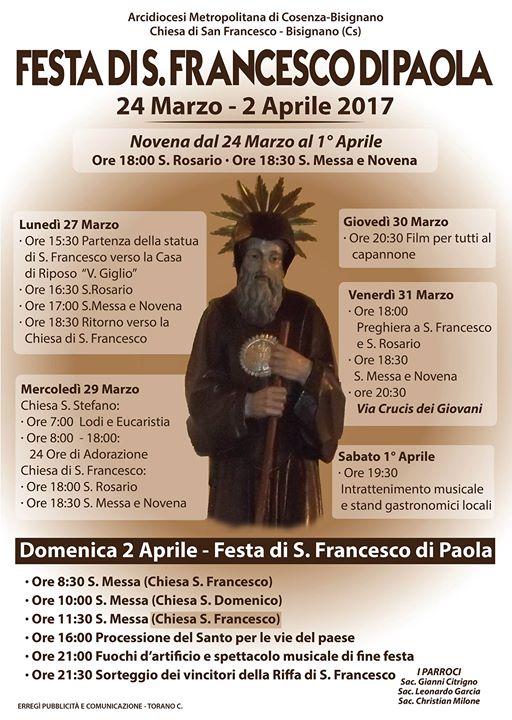 festa-sanfrancesco-2017 Festa di San Francesco di Paola 24 Marzo - 2 Aprile 2017