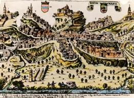 """Cartina-di-Bisignano-del-1600 Convegno storico su """"La Città di Bisignano ed il suo Seggio"""""""