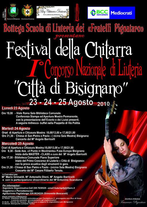 bisignano_festival Festival della chitarra: I Concorso Nazionale di Liuteria