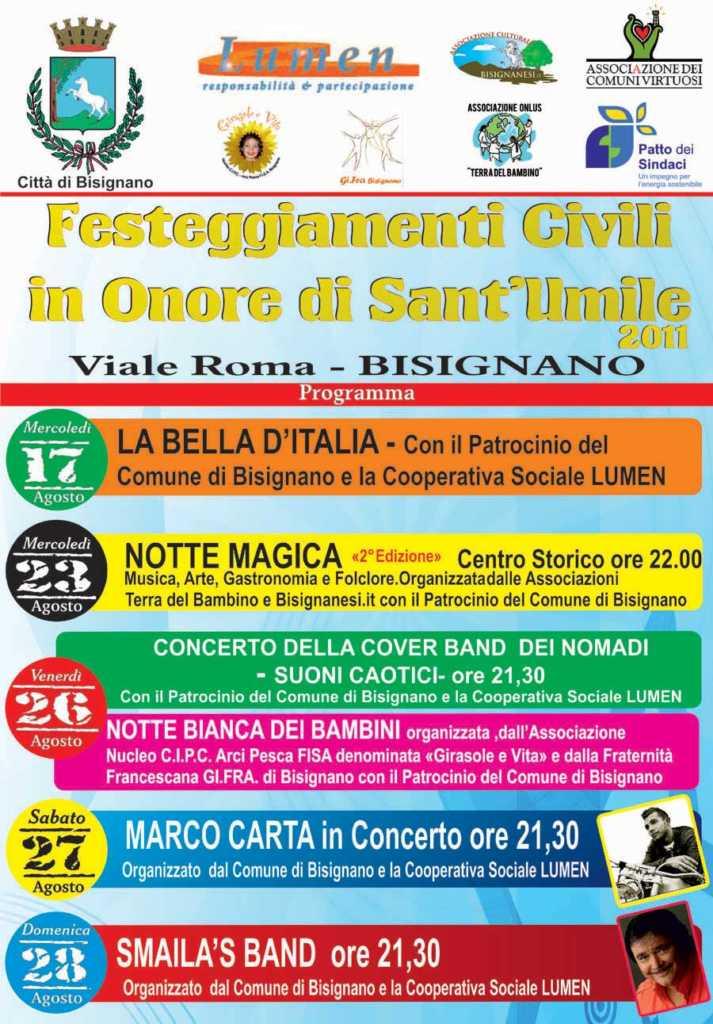 manifesto_fest._civile_s-713x1024 Festeggiamenti Civili e Religiosi a Bisignano. Festa di Sant' Umile 2011