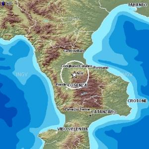 terremoto_bisignano Scossa di terremoto nel Cosentino. Epicentro tra Acri, Bisignano e S.Sofia d'Epiro
