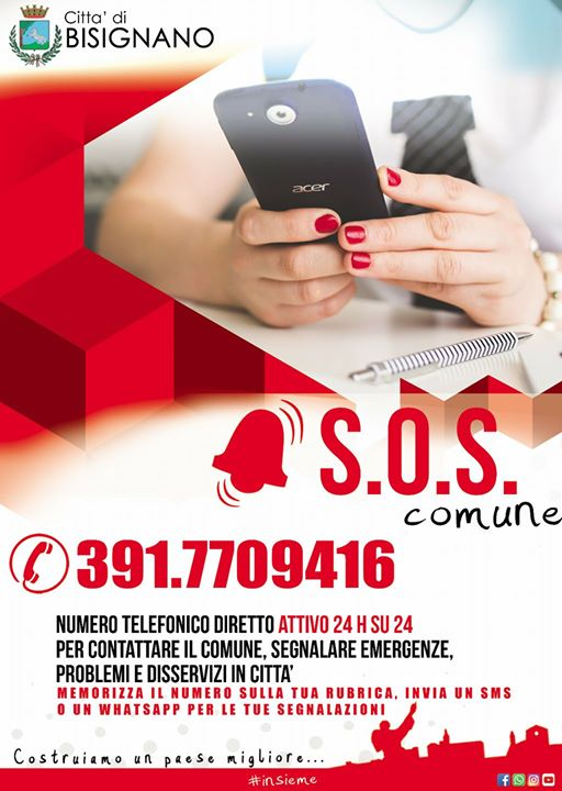 sos_comune_bisignano Servizio SOS Comune per segnalare disservizi ed emergenze in città