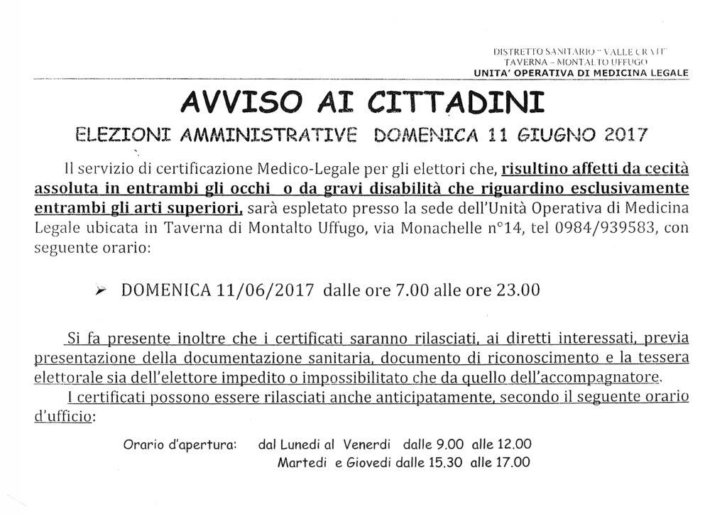 AvvisoCertificazMedicaElezioni-1024x724 Avviso: Servizio certificazione medico legale per elezioni