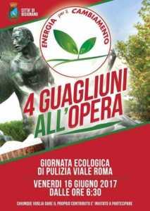 4-guagliuni-213x300 4 guagliuni... e tanti altri all'opera per ripulire il viale Roma