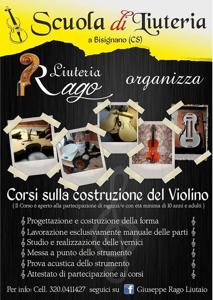 corso_liuteria_violino_rago_bisignano Presto a Bisignano i corsi sulla costruzione del violino
