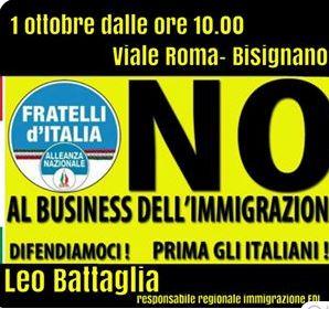 fdi Immigrazione, domenica analisi di Fratelli d'Italia al viale