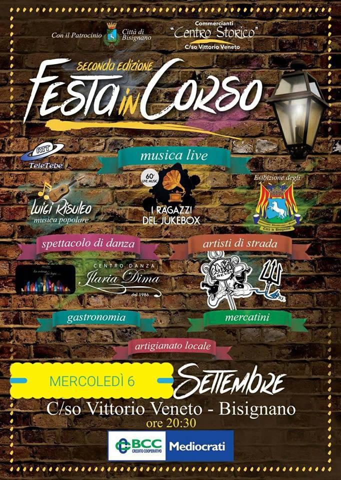 festaINcorso_bisignano Centro storico in festa: Mercoledì 6 Settembre 2017
