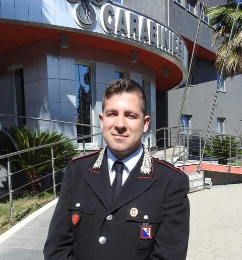 tenente-fabrizio-ricciardi I saluti del Tenente Fabrizio Ricciardi, dalla compagnia di Rende a Sassari