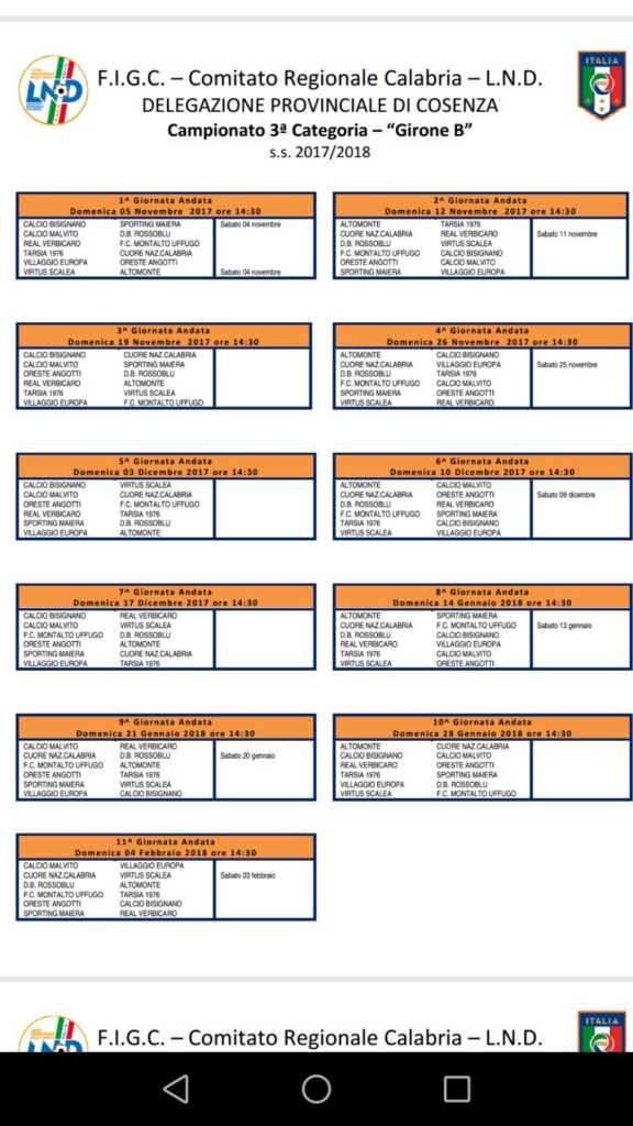 calendario-1-576x1024 Due giorni per il Calcio Bisignano