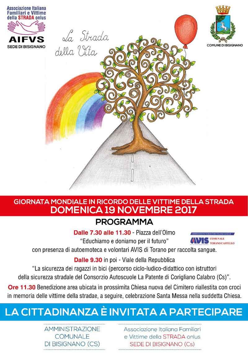 19Novembre2017-vittime-strada_2 19 novembre, un giorno per ricordare le vittime sulla strada