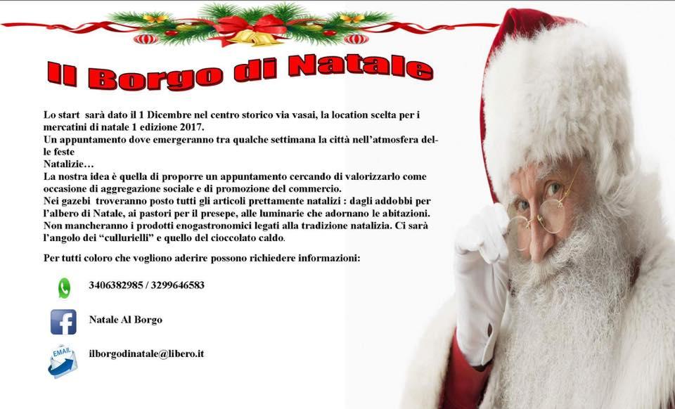 natale_al_borgo Natale al Borgo la prima edizione dal 1 Dicembre