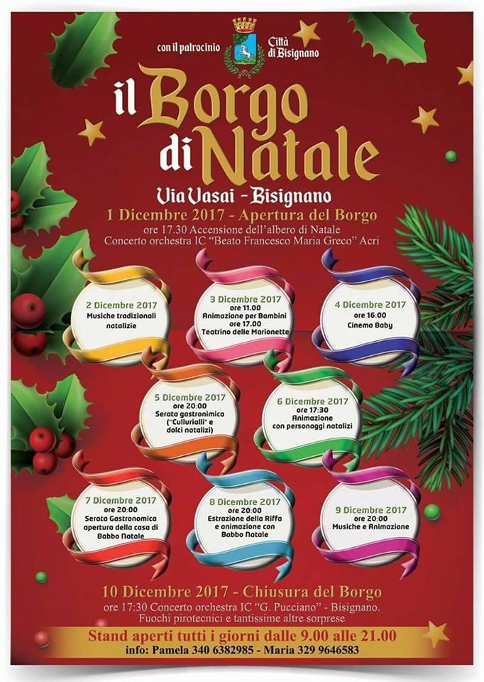 il Borgo di Natale a Bisignano 2017