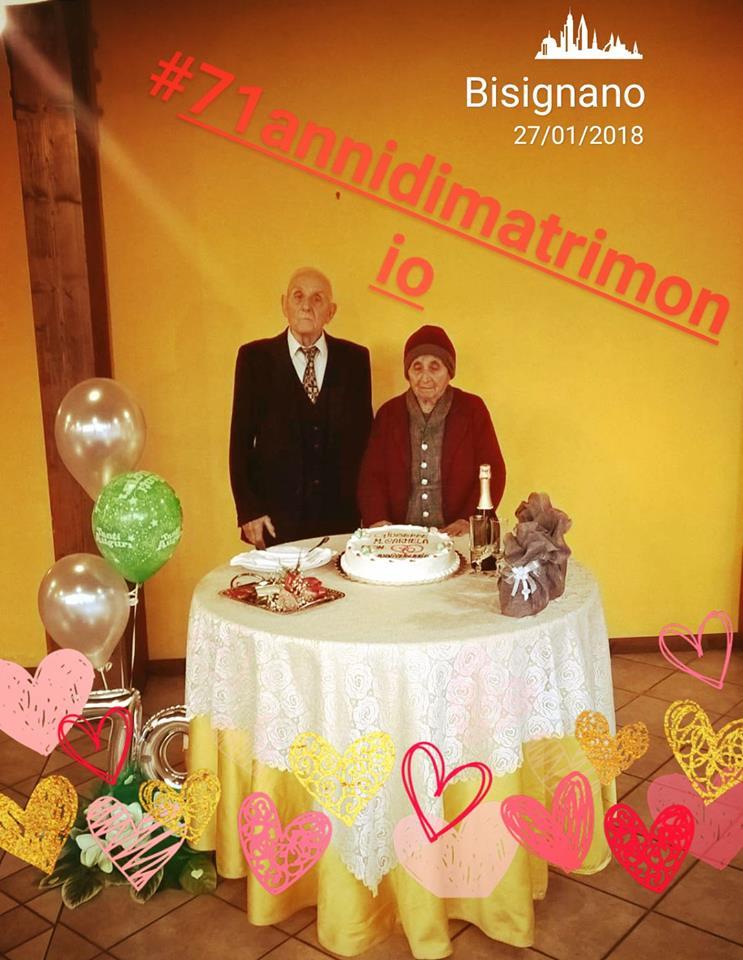 71anni_matrimonio 71 anni di matrimonio per Giuseppe e Maria Carmela