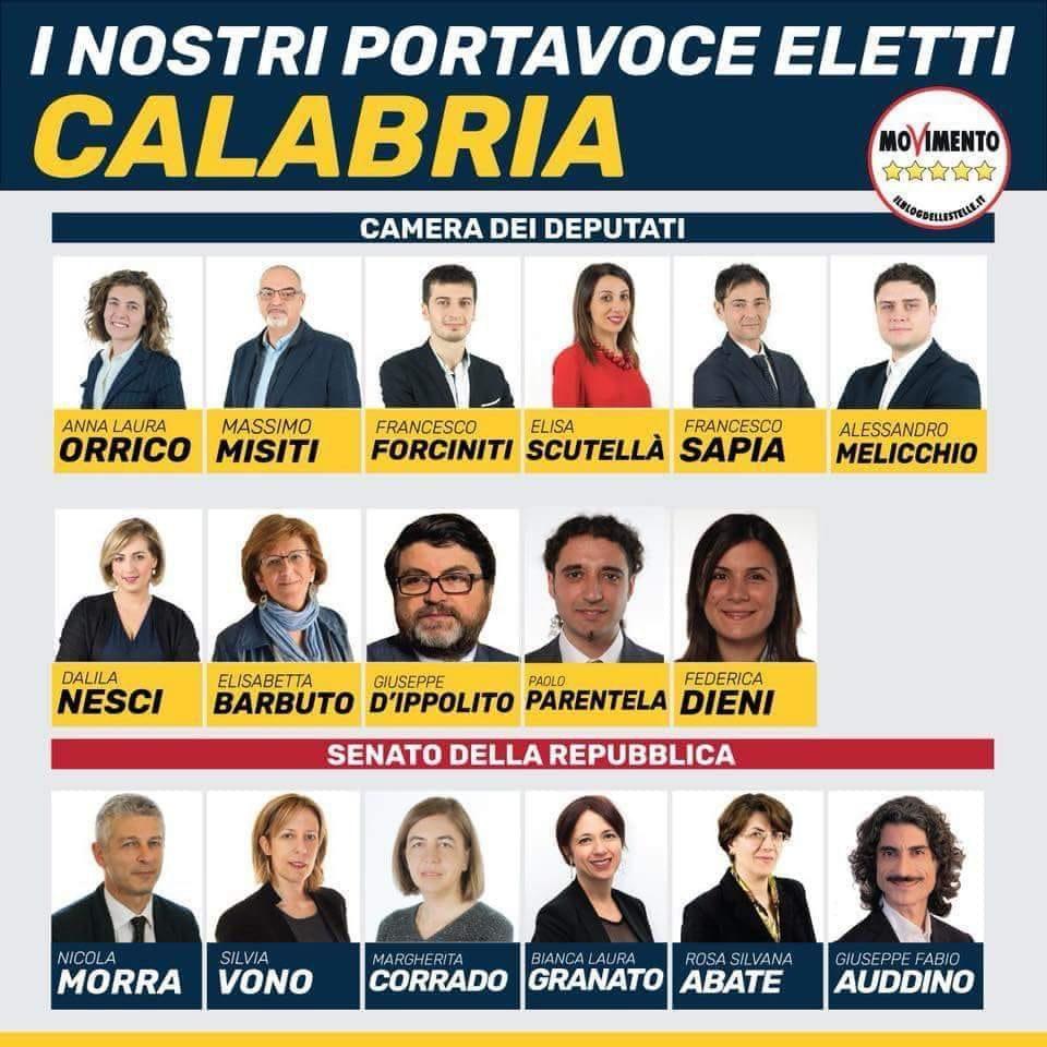 ElettiM5S Meetup Cosenza ringrazia tutti i cosentini che hanno votato il Movimento 5 Stelle