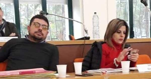Lucantonio Nicoletti e Gina Amodio consiglio comunale Bisignano